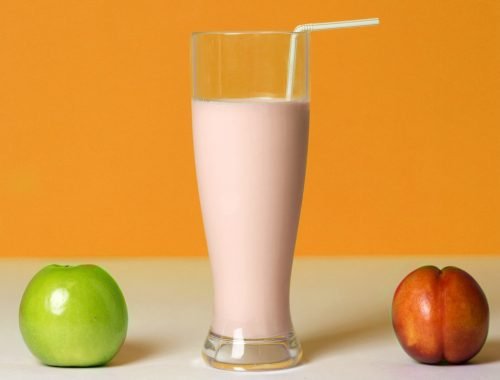 Protein smoothie with fruits