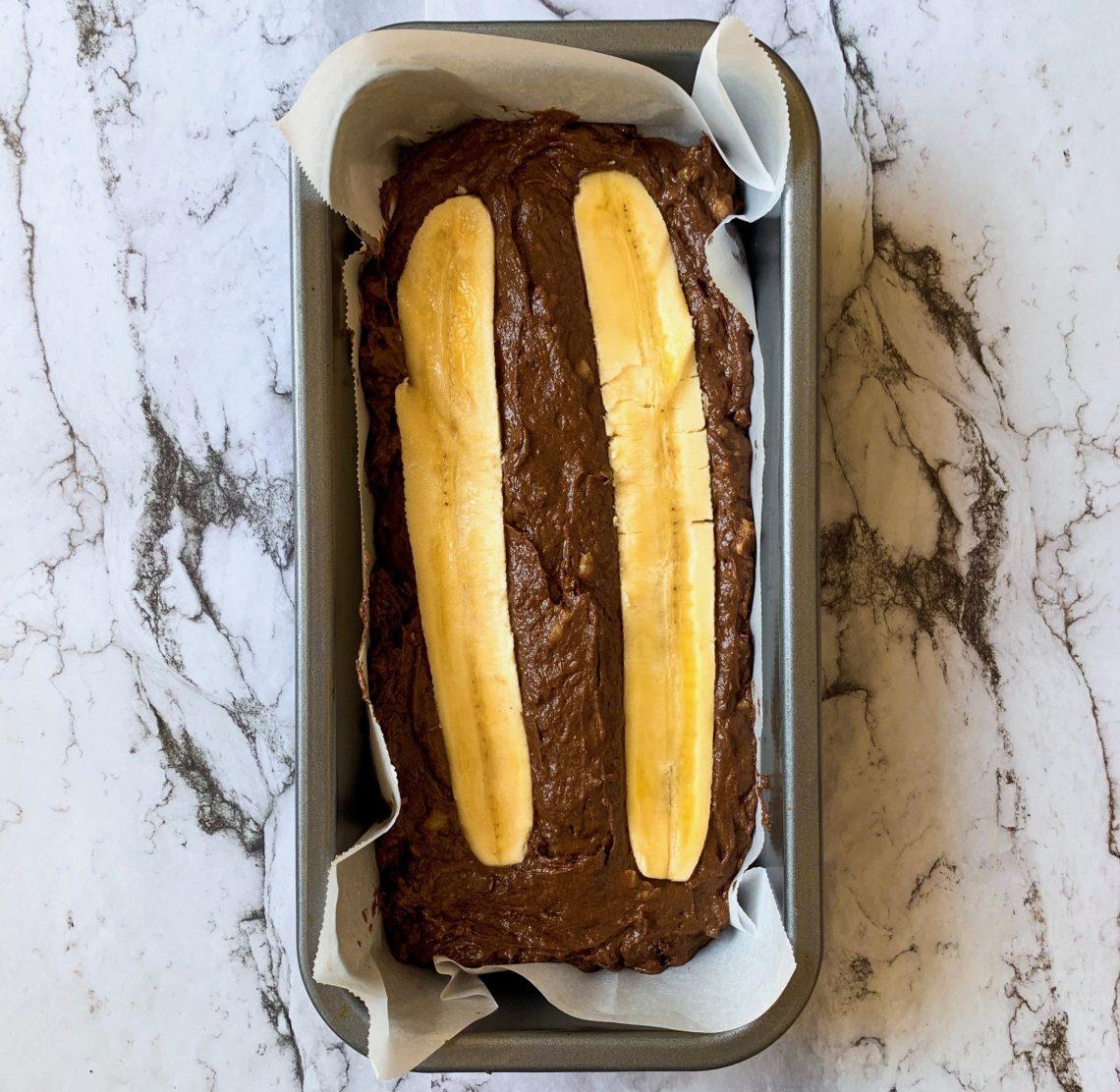 Banana Bread in a loaf tin